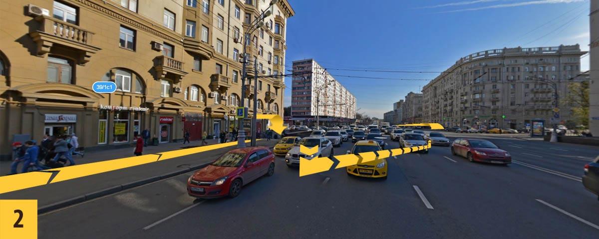 Схема проезда от метро «Чкаловская»